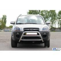 Кенгурятник WT022 (нерж.) - Hyundai Tucson JM 2004+ гг. купить в Житомире