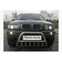 Кенгурятник WT003 (нерж.) - BMW X5 E-53 1999-2006 гг. купить в Луцке