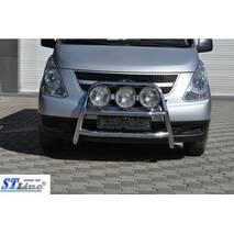 Кенгурятник WT018 (нерж.) - Hyundai Starex H1 H300 2008+ гг. купить в Тернополе