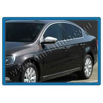 Накладки на дзеркала (2 шт., нерж.) - Volkswagen Passat B7 2012-2015 рр. купити в Івано-Франківську