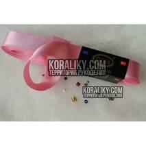 (0030200512) Лента атласная двусторонняя розовая ширина 20 мм