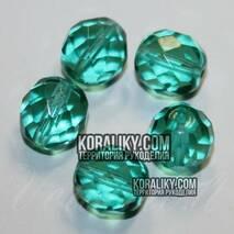 (STKB60220 - 14) Скляних намистин круглі грановані розмір  14 мм