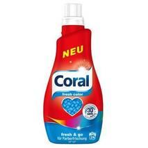НОВИНКА гель для стирки цветного белья Coral Fresh Color, 24 стирки, 1,2 л, Германия