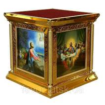 Престол 150×150 см карбування, ікони, літографія