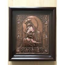 Ікона Почаевская БМ 28.5х32.5см мідь 1_153