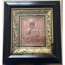 144_Ікона Микола Чудотворець (карбування по міді) 36х39см