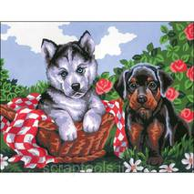 Набор для вышивки Collection D'Art Stamped Needlepoint Kit 22X30cm