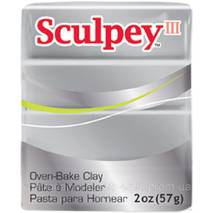 Полимерная глина Sculpey III 57 г Silver (715891111307)