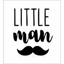 Напис з термотрансферной плівки - little man