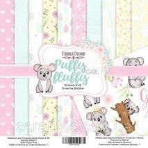 "Набор скрапбумаги Puffy Fluffy Girl, 20x20см, Фабрика Декору...||-#-||."".Puffy Fluffy Girl""&nbsp;-&nbsp;набір двостороннього паперу 20 см х 20 см (8""x8""), щільністю 200г/м.&nbsp;Особливості:<br /> <br"