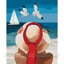 """Картина по номерах. Люди """"Морська насолода"""" 40*50см * KHO4502"""