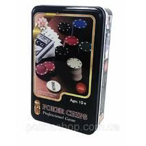Настільна гра J02070 покер, фішки, карти, в кор-ке (метал), 19,5-12-5 см