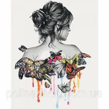 """Картина мо номерам. Люди """"Ніжність метелика"""" 40*50см * KHO2688"""