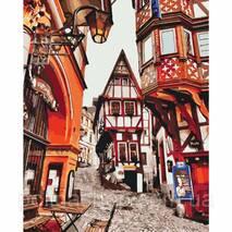 """Картина по номерах. Міський пейзаж """"Яскраві вулиці Німеччини"""" 40*50см KHO3539"""