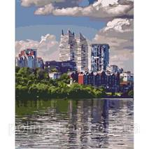 """Картина по номерах. Міський пейзаж """"Улюблений місто"""" 40*50см KHO2186"""