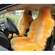 Авточехол  из Новозеландской овчины (оранжевый)