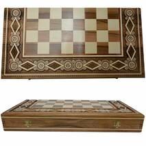 Деревянные Шахматы + Нарды, 60х60 см. Инкрустация бисером