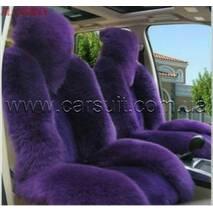 Авточехол  из Новозеландской овчины (фиолетовый)