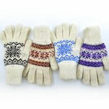 Женские зимние перчатки, удлиненные