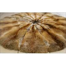 Меховой ковёр из лисы