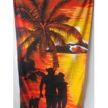 Махровые пляжные полотенца.
