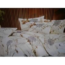 Двухспальное  хлопковое белье с цветами
