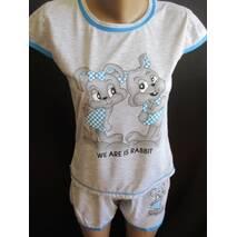 Трикотажные пижамы оптом со склада недорого.
