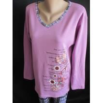 Купить оптом женские байковые пижамы