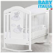 Кроватка детская 125х65 см COCCOLO WHITE/DOVE GREY