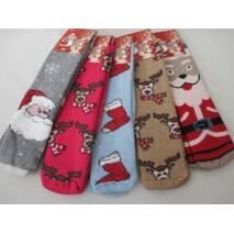 Женские шерстяные носки с ярким рисунком.