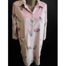 Теплый халат - рубашка для женщин.