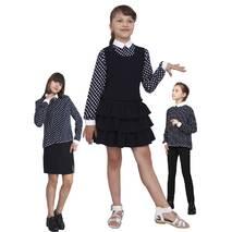 """Блузка детская для девочек М-1069 рост 134-170 горох тм """"Попелюшка"""""""