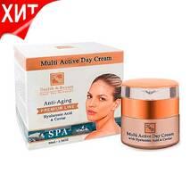 Мультиактивний денний крем з гіалуроновою кислотою Health & Beauty Multi-Active Day Cream with Hyaluronic acid and Caviar extract 50 мл.