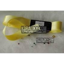 (0030400551) Лента атласная двусторонняя жёлтая ширина 40 мм
