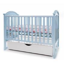 Кровать Twins I love шуфляда/маятник голубой