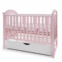 Ліжко Twins I love шуфляда/маятник рожевий