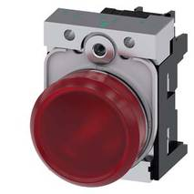 Світловий індикатор, 22 мм, круглий, металевий глянсовий, 3SU1156-6AA20-1AA0, Siemens