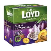 Чай в пакетиках пірамідках Loyd Plum&Cinnamon, слива і кориця 2г*20шт
