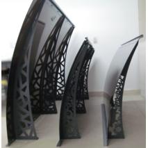 Металлический сборный козырек Dash'Ok Фауна 1,5 м*1 м с сотовым поликарбонатом 6 мм купить в Ровно