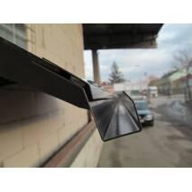 Металлический сборный козырек Dash'Ok Стиль 1,5 м*1 м с сотовым поликарбонатом 6 мм купить во Львове