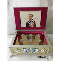 Ковчег для частиц святых мощей 1-2-3-4-6-12  частиц, 20×28 см