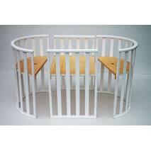 Кровать Twins Cozy овал макс розм 170*70 /р/ белое