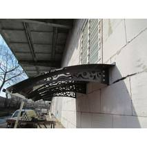 Металлическая сборная крыша Dash'Ok Стиль 2,05м*1,5м с монолитным поликарбонатом 3мм