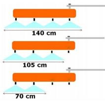 Гербицидная балка (штанга) металл, односторонняя