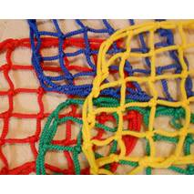 Сетка заградительная (разделительная) капроновая цветная для улиц и залов, 80х80, 4,5 мм
