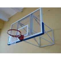 Щит баскетбольный игровой 1800х1050 мм (оргстекло 10 мм) с силовой антивибрационной рамой