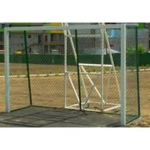 Ворота 3х2 м мини-футбольные, гандбольные антивандальные с сеткой рабица