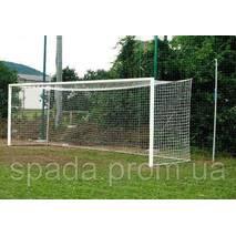 Ворота футбольные профессиональные (алюминиевые), 7.32 х 2.44 м, Евро Профиль в стаканы / переносные