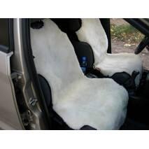 Авточохол з овчини (білий, без підголовника)