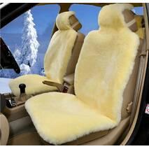 Авточохол з натуральної овчини (лимонне, поліроване хутро)